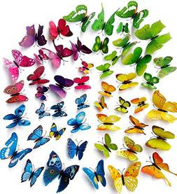 Hdecor 3D Butterfly Stickers Making Stickers Wall Stickers C