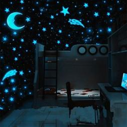 80PCS Magic Plastic Wall Stickers Decal Stars Glow in the Da