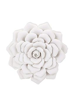 IMAX 83334 Evington Porcelain Wall Flower, Medium, White