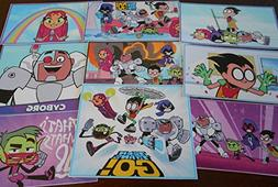9 Teen Titans Go inspired stickers, Birthday party favors, d