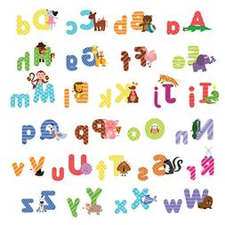 treepenguin Kids Animal Alphabet Wall Decals: Cute Removable