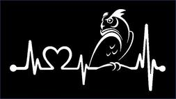 Bluegrass Decals K1082 OWL Heartbeat Lifeline Monitor Campin