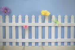 Butterfly Garden Decor for Kids Room Wall Border Picket Fenc