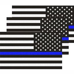 CREATRILL Reflective US Flag Decal Packs with Thin Blue Line