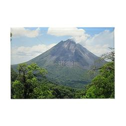 CafePress - Arenal Volcano Rectangle Magnet - Rectangle Magn