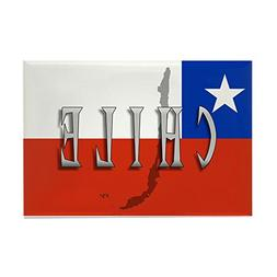 "CafePress - Chile Flag Extra - Rectangle Magnet, 2""x3"" Refri"