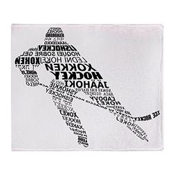 CafePress - Hockey Languages Typography - Soft Fleece Throw