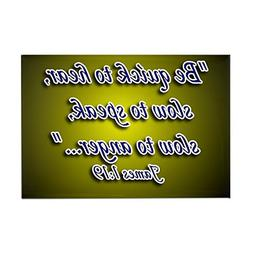CafePress - James 1:19 Rectangle Magnet - Rectangle Magnet,