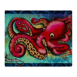 CafePress - Octopus framed print Throw Blanket - Soft Fleece