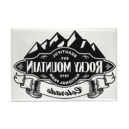 CafePress - Rocky Mountain Mountain Emblem - Rectangle Magne