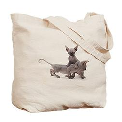 CafePress - Two Sphinx Kitten - Natural Canvas Tote Bag, Clo