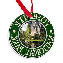 CafePress - Yosemite National Park - Round Christmas Ornamen