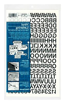Chartpak Self-Adhesive Vinyl Capital Letters and Numbers, 1/