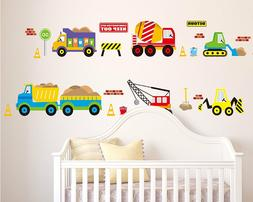 City Construction Decorative Peel & Stick Wall Art Sticker D