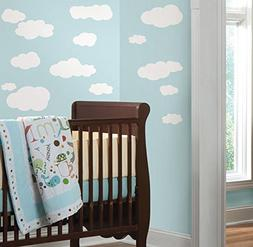 Clouds  Peel & Stick Wall Decals 10 x 18in