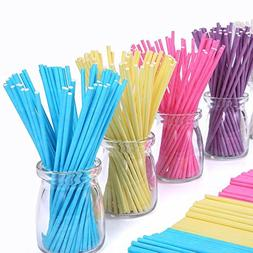 Colored Lollipop Sticks 100 count 6 inch