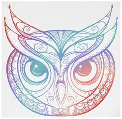 Divine Designs Beautiful Rainbow Ombre Henna Pattern Owl Dra