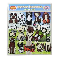 Dog and Puppies Flexible Gel Clings –Removable and Reusabl