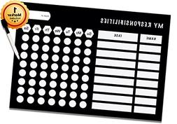 """Dry Erase Responsibility Chart - 10"""" x 14"""" inches - Teenager"""