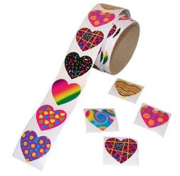 Fun Express Funky Heart Roll Stickers