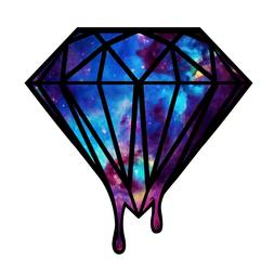 Galaxy diamond sticker decal phone laptop car window locker
