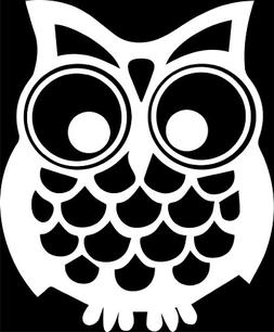 Hoot Owl Vinyl Decal Sticker|Cars Trucks Vans Walls Laptops