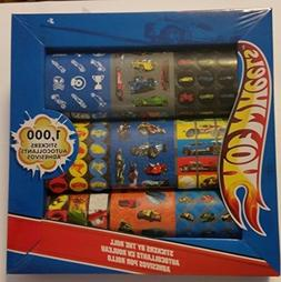 Hot Wheels Cars Stickers By The Roll Pack of 1000 Stickers