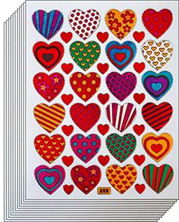 Jazzstick 240 Colorful Valentine Heart Decorative Sticker 10