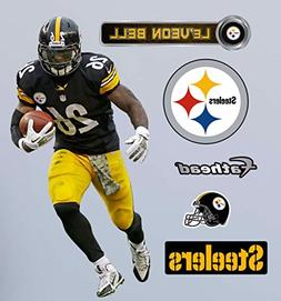 LeVeon Bell FATHEAD Pittsburgh Steelers Official NFL Vinyl W