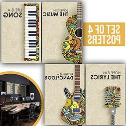 Limited Edition: Music Posters, Set of Four 11X17 Musician G