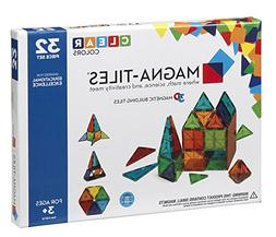 Magna-Tiles 32-Piece Clear Colors Set – The Original, Awar