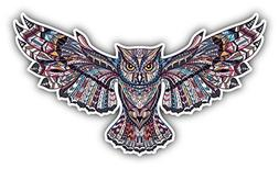 Owl Totem African Indian Pattern Car Bumper Sticker Decal 6""