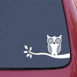 Owl on Branch - Design 1 -  Car Vinyl Decal Sticker -