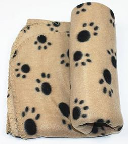 PAWSnCLUBS Pet Dog Cat Paw Prints Blanket Mat Bed