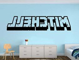 Personalized Gamer Name decal - 3d looking Gamer Room Wall V