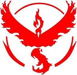 Pokemon Go -- Team Red  Decal Sticker for Car/Truck/Laptop
