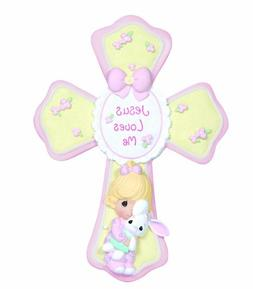 Precious Moments, Jesus Loves Me, Girl Resin Cross With Stan