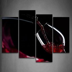 Red Wine In The Glass Wall Art Painting The Picture Print On