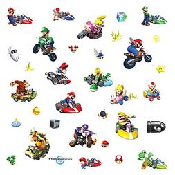 Roommates 771Scs Nintendo Mario Kart Peel And Stick Wall Dec