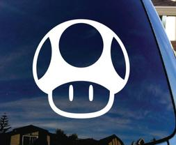 SoCoolDesign Mario Up Mushroom Car Window Vinyl Decal Sticke