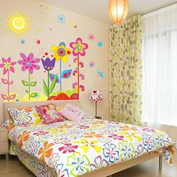 Ussore Wall Sticker Flower Butterfly Removable Vinyl Decal A