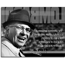 Vince Lombardi Successful Person Quote Sports Retro Vintage