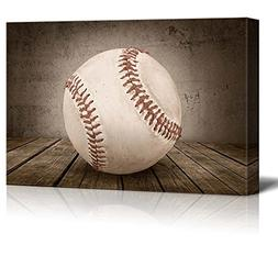 Wall26 - Home Run! Baseball Rustic Rectangular Sport Panel -
