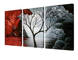 Wieco Art The Cloud Tree Wall Art Oil PaintingS Giclee Lands