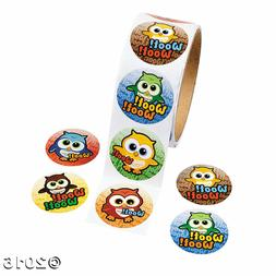 Woot! Owl Roll Stickers - 100 ct