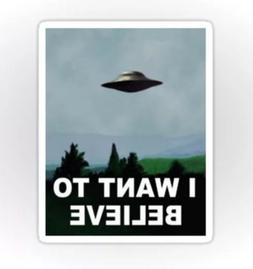 X-Files I want to Believe Moulder Skully UFO Sticker decal c