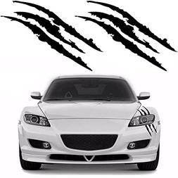 YGMONER 2PCS Claw Marks Decal Reflective Sticker for Car Hea