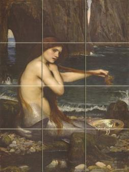 A Mermaid By John William Waterhouse - Art Ceramic Tile Mura