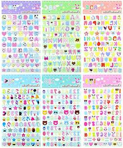 ABC123 - 6 Sheets Colorful 0-9 Number and A-Z Alphabet Lette