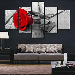 abstract rose black white red